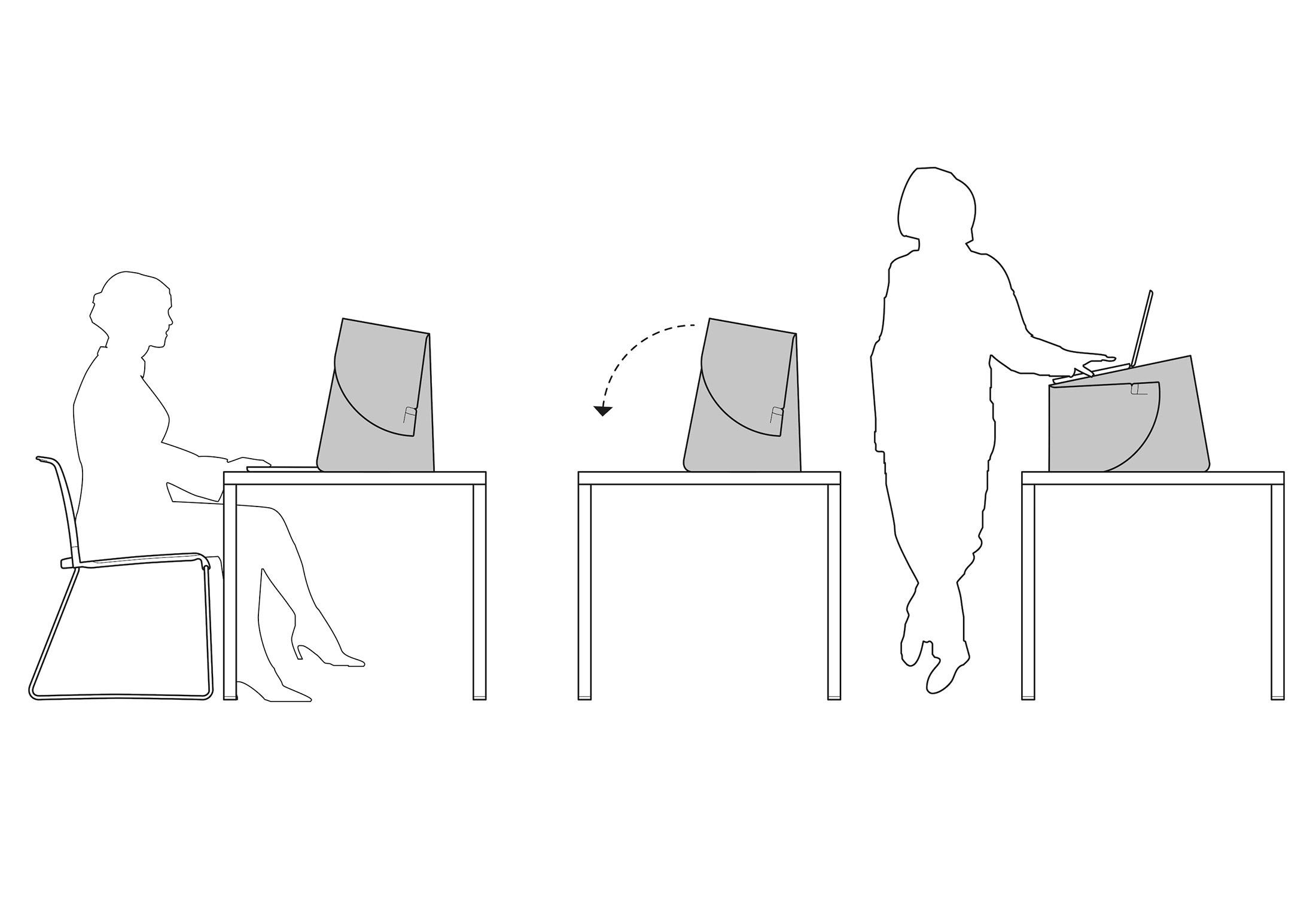 Schets Wilkhahn Fold-up Workspace